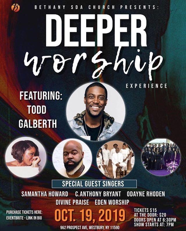 Bethany SDA Church Deeper Worship Experience poster